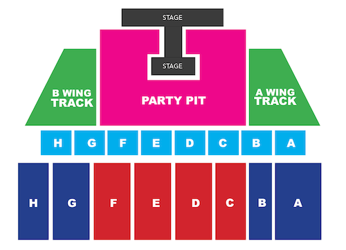 GRANDSTAND SEAT MAP