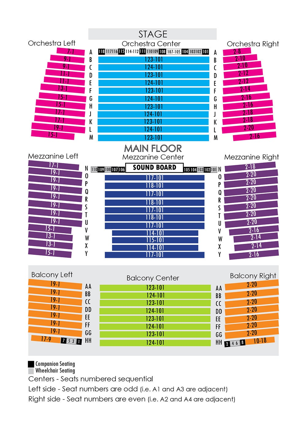 House Seating Chart Niswonger Performing Arts Center